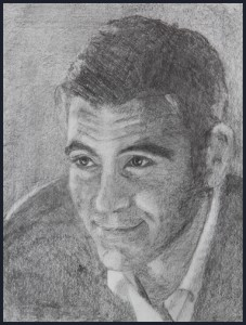 Rex Beanland, student portrait, pencil, 8.5 X 11