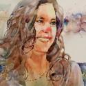 Rex Beanland, Happy Day, watercolour, 14 x 18
