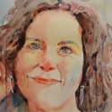 Rex Beanland, Danielle, watercolour, 14 x 18