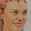 Rex Beanland, Shelby Close, watercolour, 8 x 9