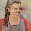 Rex Beanland, Shelby, watercolour, 20 x 15