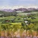 Rex Beanland, Leighton Centre Landscape, watercolour, 8 x 10
