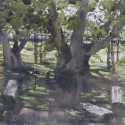 Rex Beanland, Madeline Island Cemetery, watercolour, 9 x 12