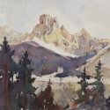 Rex Beanland, Takakkwa Falls 2, watercolour, 8 x 10