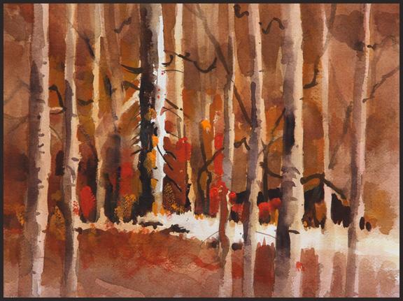 Rex Beanland, Forest Fantasy, watercolour, 9 X 12