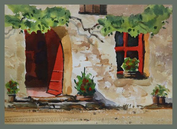 Rex Beanland, Doorway, watercolour, 9 X 12