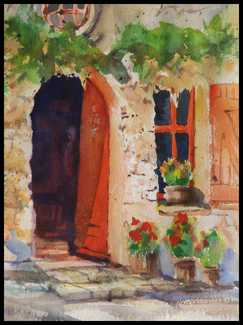 Rex Beanland, Doorway 2, watercolour, 9 X 12