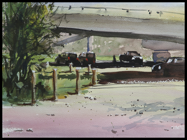Rex Beanland, Under Glenmore Trail, watercolour, 9 X 12