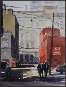 Rex Beanland, Central United 2012, watercolour, 16 X 12