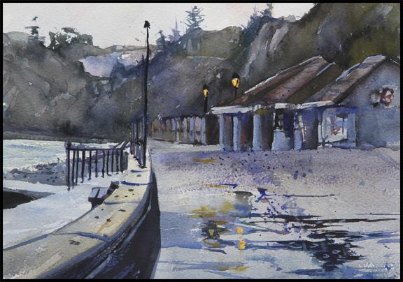 Rex Beanland, Seaton, watercolour, 9 X 12