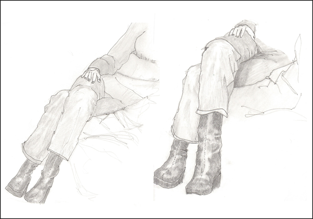 Rex Beanland, Crossed Legs, pencil