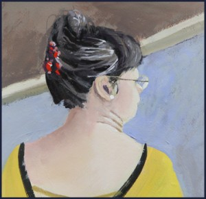 Rex Beanland, Janey, acrylic, 9 x 12