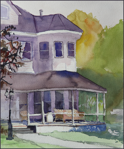 Rex Beanland, Okotoks Plein Air, watercolour, 9 x 12