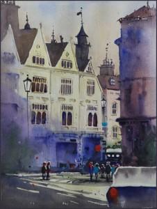 Rex Beanland, Charing Cross, watercolour, 9 12