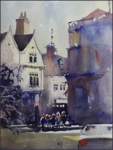 Rex Beanland, Charing Cross, watercolour, 18 x 24
