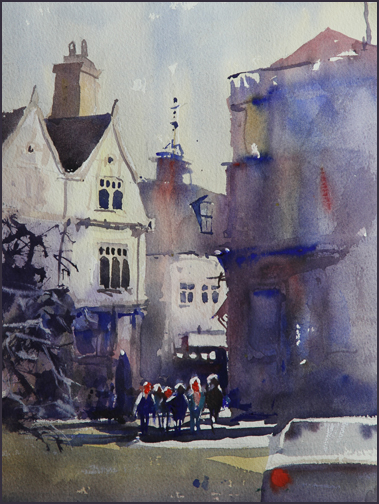 Rex Beanland, Charing Cross, watercolour, 18 x 24
