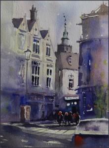 Rex Beanland, Charing Cross, watercolour, 9 x 12