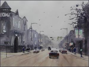 Rex Beanland, Kensington 1, watercolour, 16 x 12