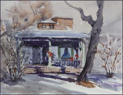 Rex Beanland, Sunnyside Plein Air, watercolour, 9 x 12