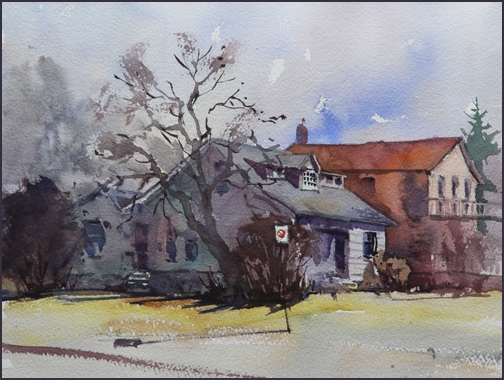 Rex Beanland, 5th Street, watercolour, 9 x 12