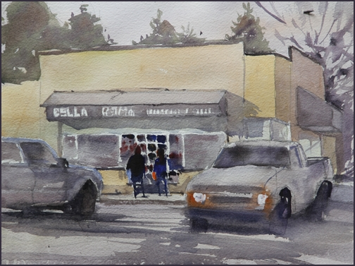 Rex Beanland, Bella Roma, watercolour, 9 x 12