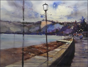 Rex Beanland, Seaton Seafront (Demo),  watercolour, 18 x 24