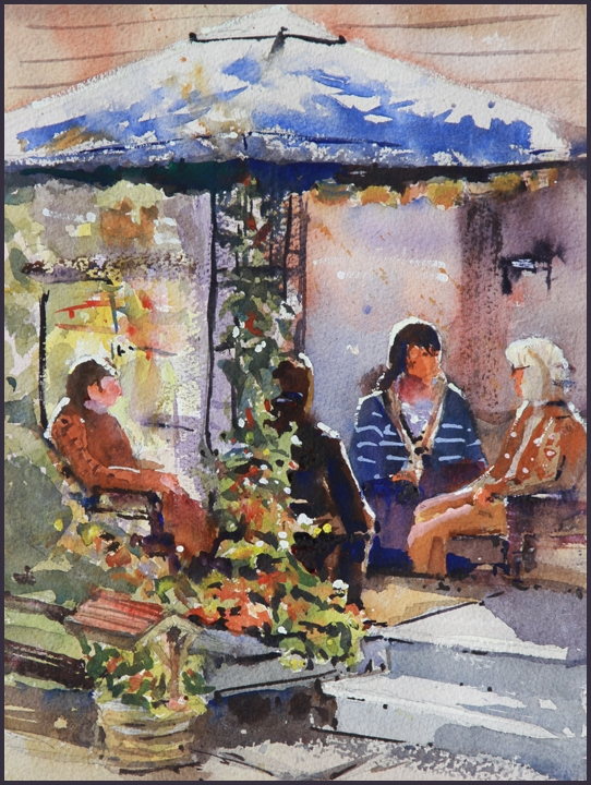 Rex Beanland, Art In The Garden Original, watercolour, 12 x 9