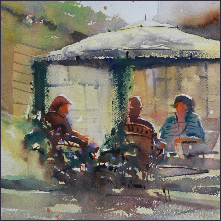 Rex Beanland, Art In The Garden , watercolour, 12 x 12;