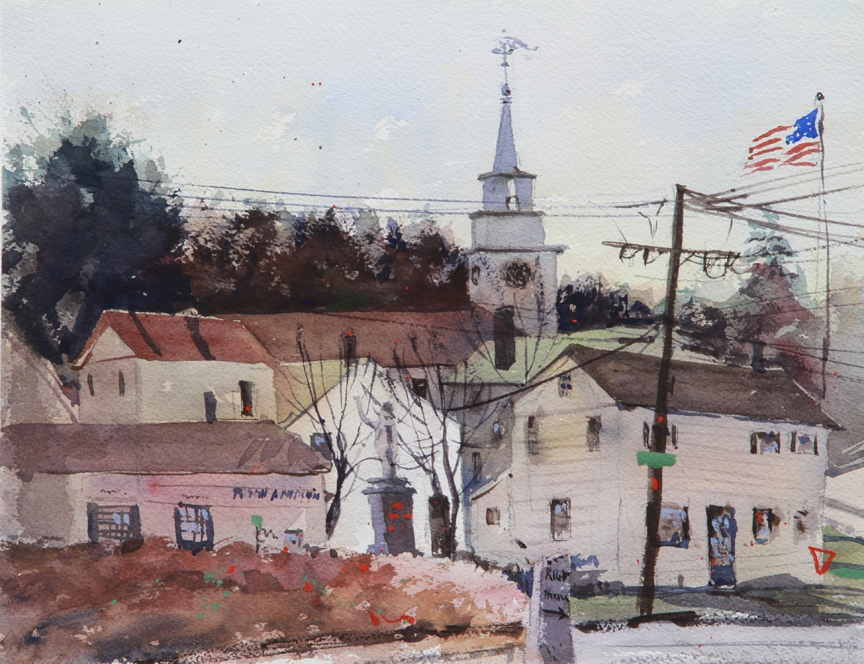 Rex Beanland, Carlisle, watercolour, 9 x 12