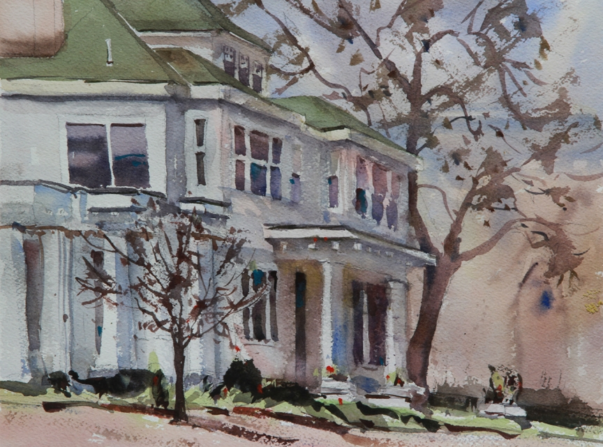 Rex Beanland, Forge Village House, watercolour, 9 x 12