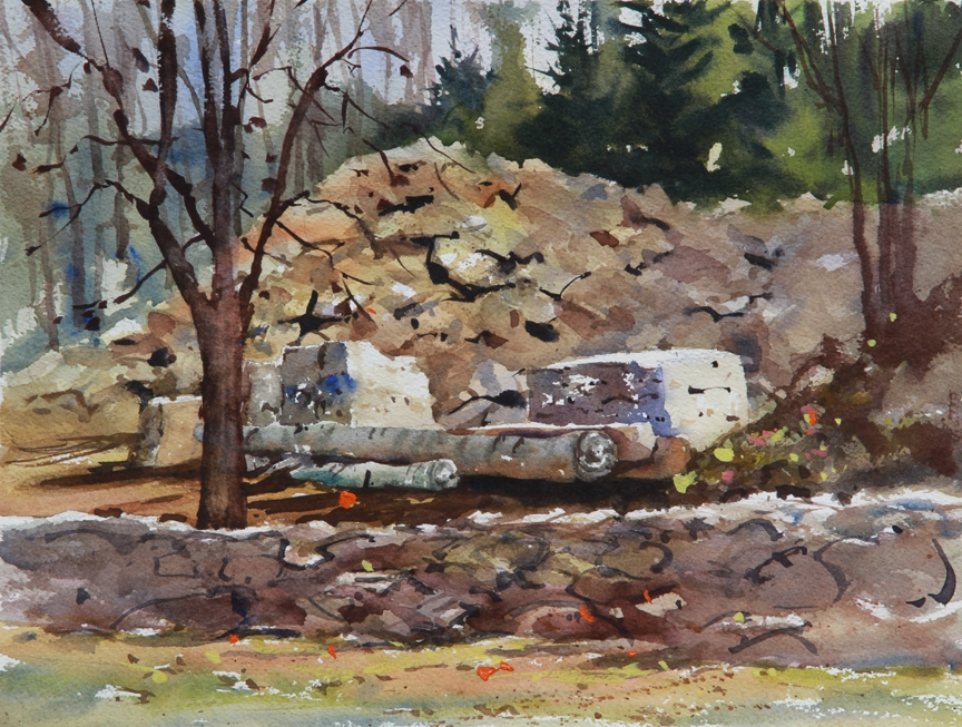 Rex Beanland, Massachusetts Landscape, watercolour, 9 x 12