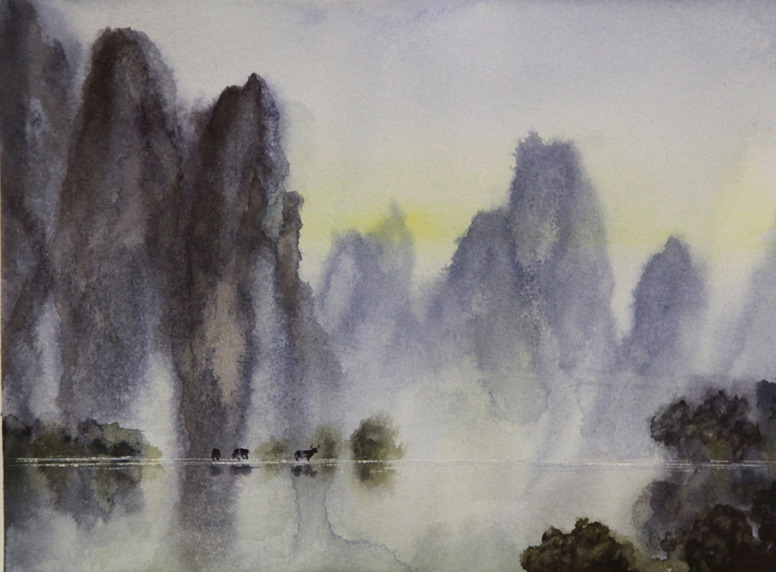 Rex Beanland, Watercolour BootCamp exercise