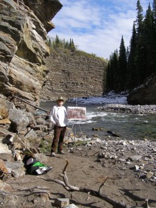 Rex Beanland, Rex, the painting, and the Elbow River