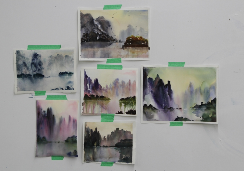 Rex Beanland, Student Examples Chinese Watercolour