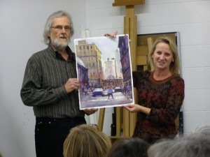 Rex, Tami and the painting