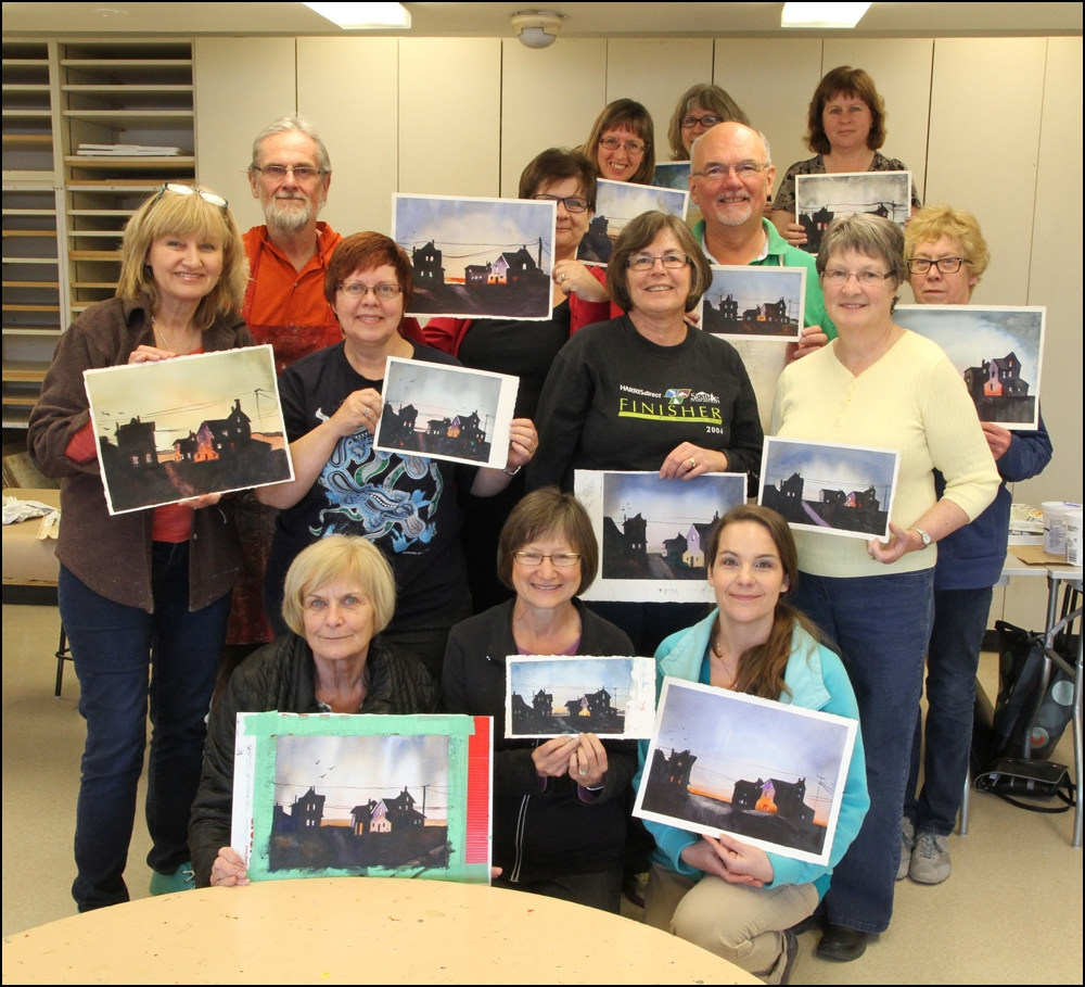 Rex Beanland, Class photo, St Albert Painters Guild