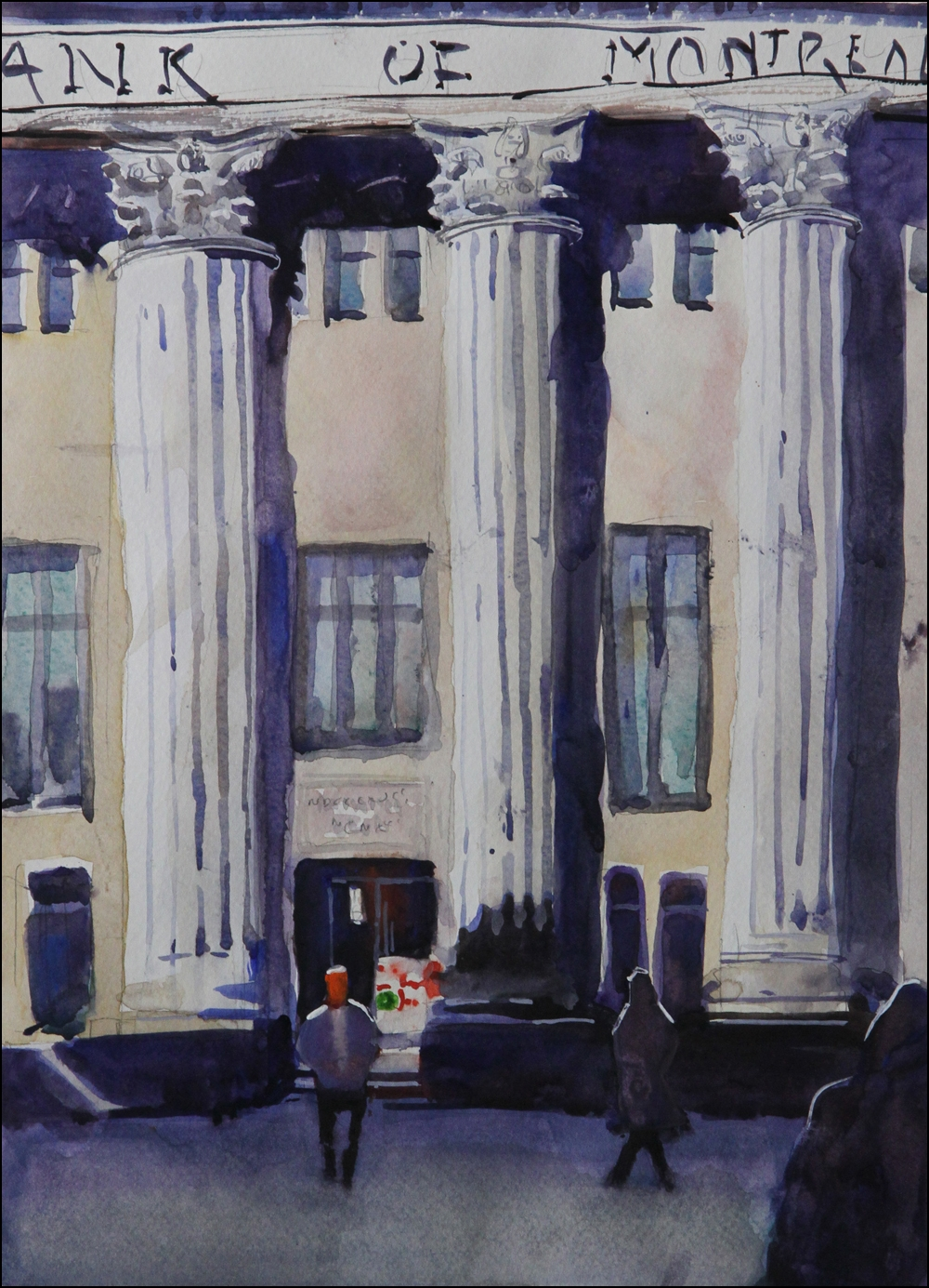 Rex Beanland, Bank Of Montreal, watercolour 16 x 12