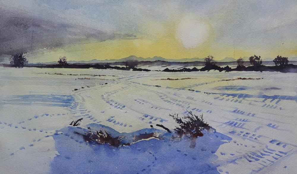 Rex Beanland, Prairie Sunset Version 1