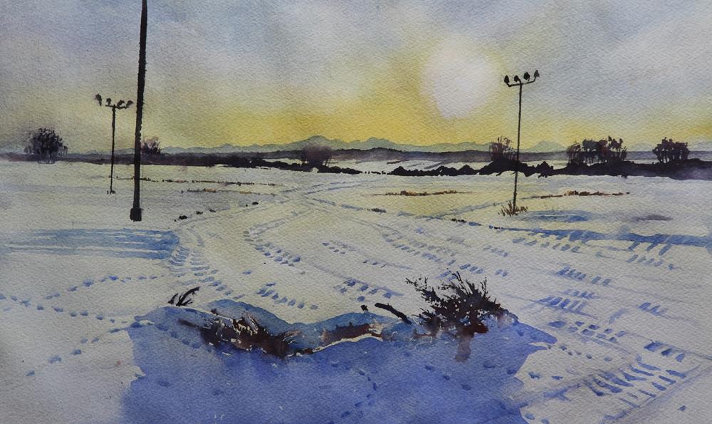 Rex Beanland, Prairie Sunset (Poles)