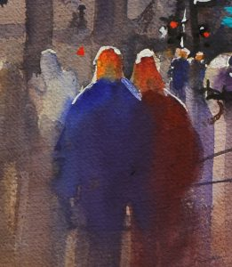 Rex Beanland, A Wet Day In Toronto detail