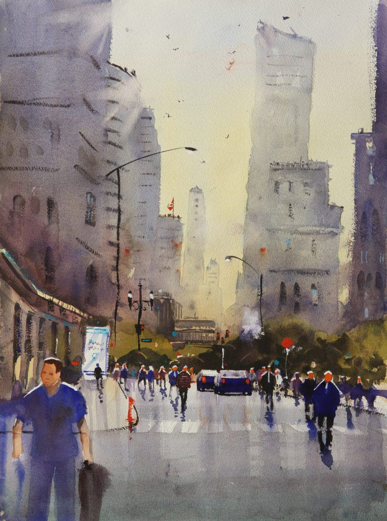Rex Beanland, Toronto Works, watercolour, 21 x 14