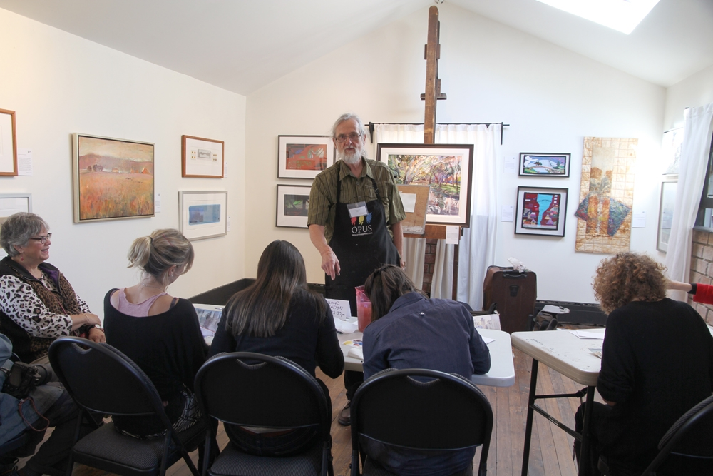 Rex Beanland, Rex teaches, Alberta Culture Days, Leighton Centre