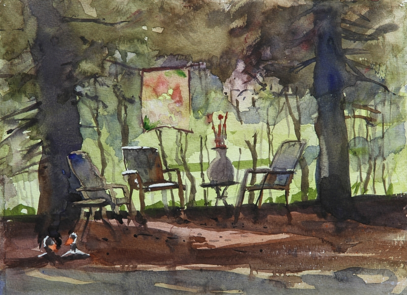 Rex Beanland, Summer Sanctuary, 9 x 12