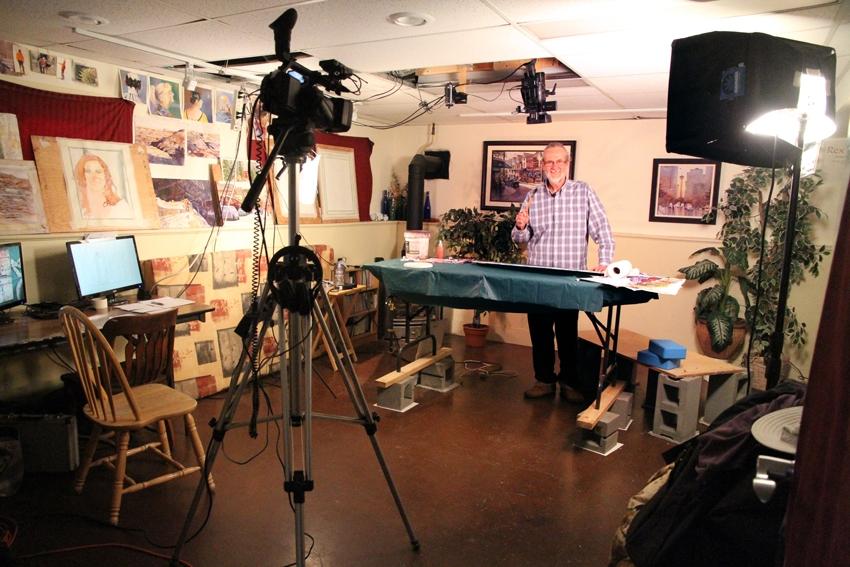 Rex Beanland, filming DVD stills