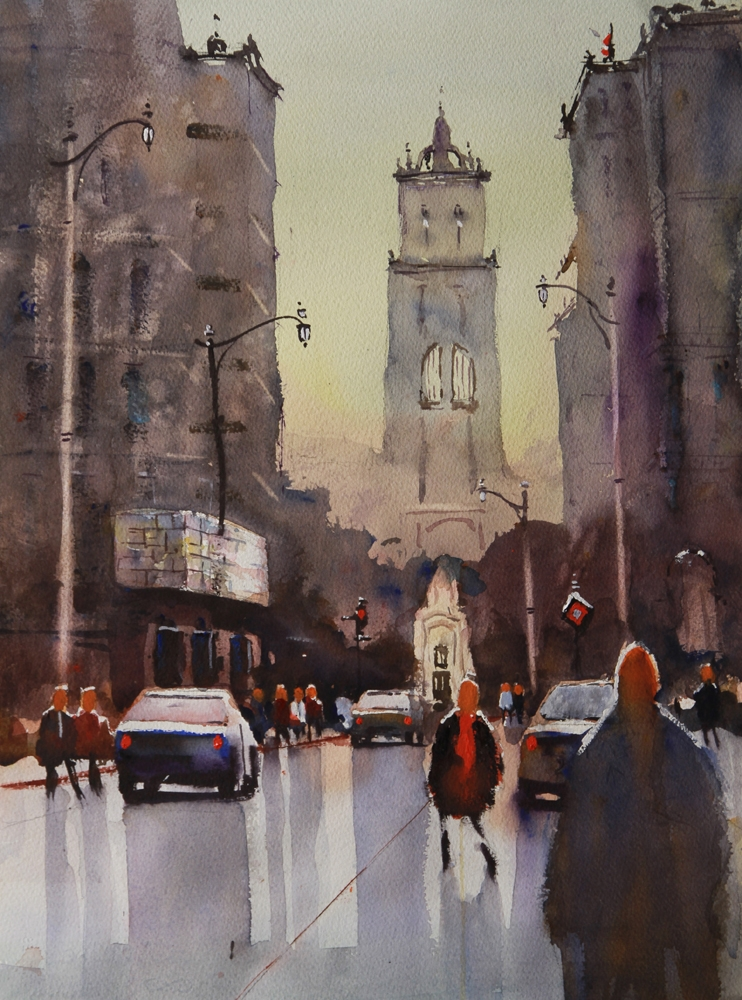 Rex Beanland, St. Mary's, watercolour,15 x 20