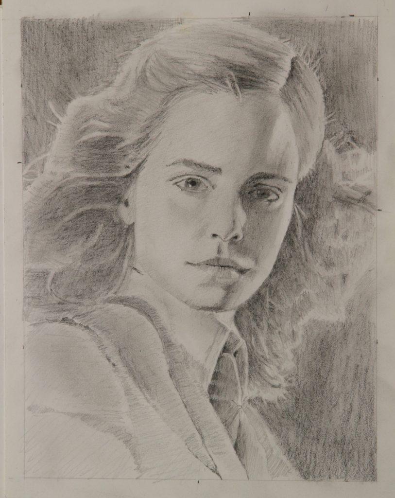 Rex Beanland, Emma Watson, graphite