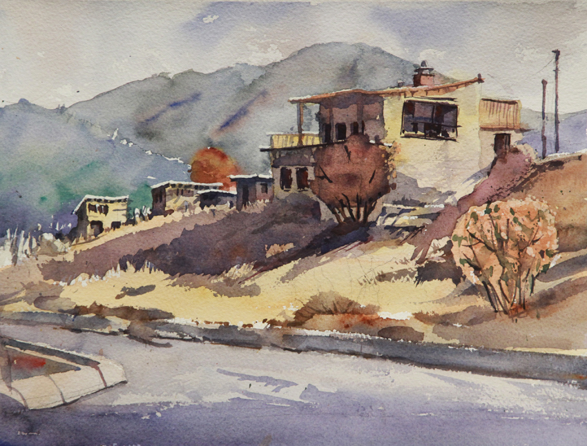 Rex Beanland, Lytton BC, watercolour, 9 x 12