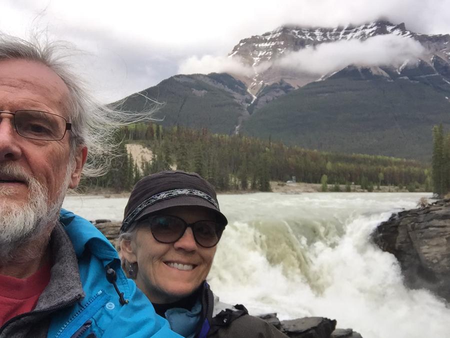 Rex Beanland, Susan & Me At Athabaska Falls
