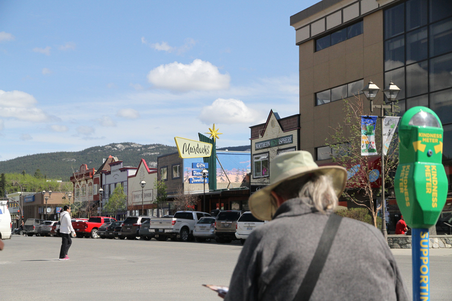 Rex Beanland, Painting In Downtown Whitehorse