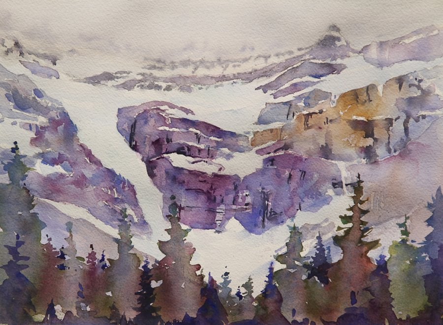 Rex Beanland, Jasper 2, watercolour, 11 x 14